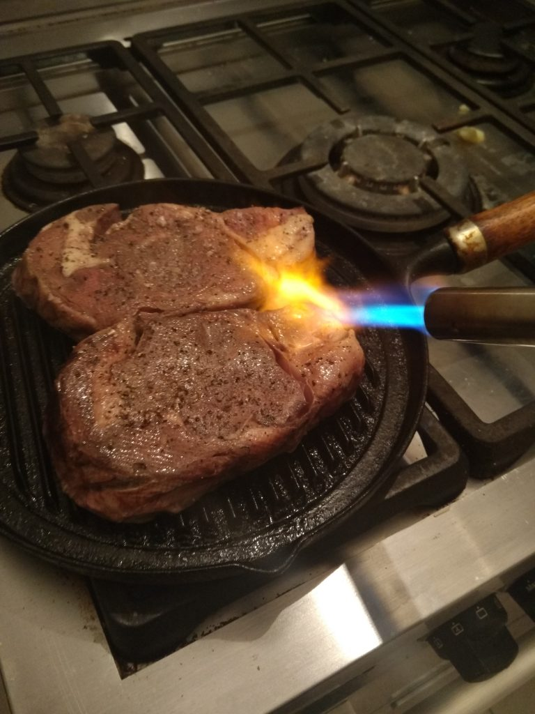best sous vide cooked entrecote steak and pan seared. Black Bedroom Furniture Sets. Home Design Ideas