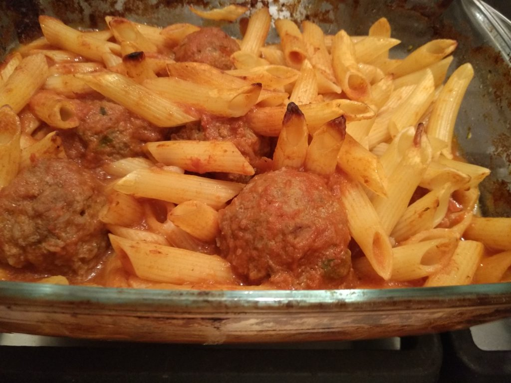 Meatballs with Penne pasta