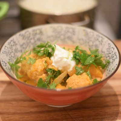 Cauliflower Butternut squash Vindaloo