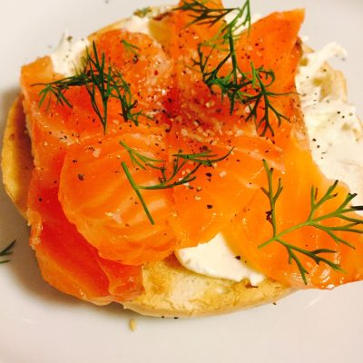 Lox on bagel with creamcheese
