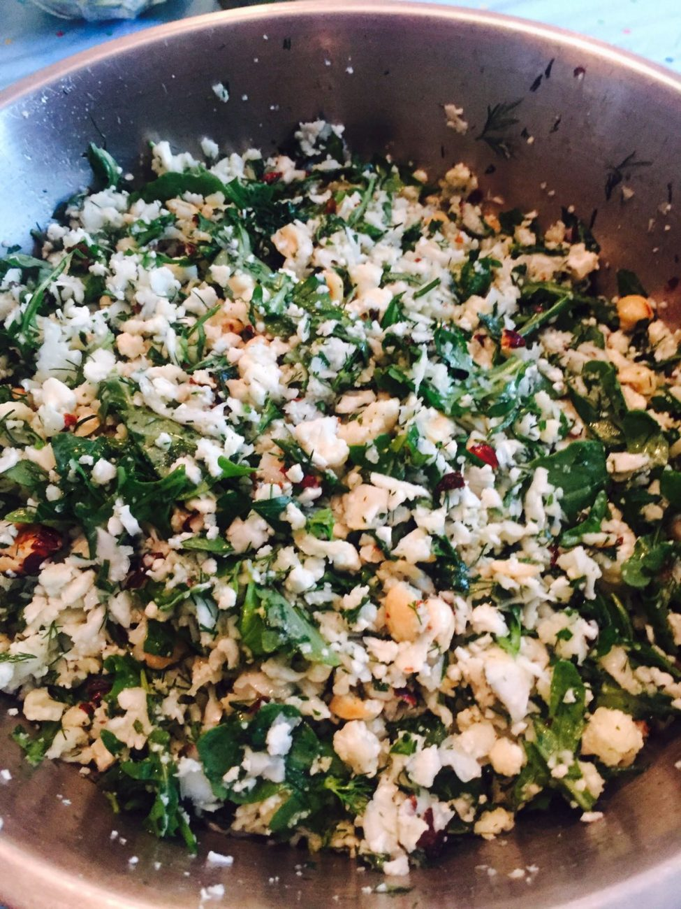 Cauliflower Salad With Herbs and Hazelnut