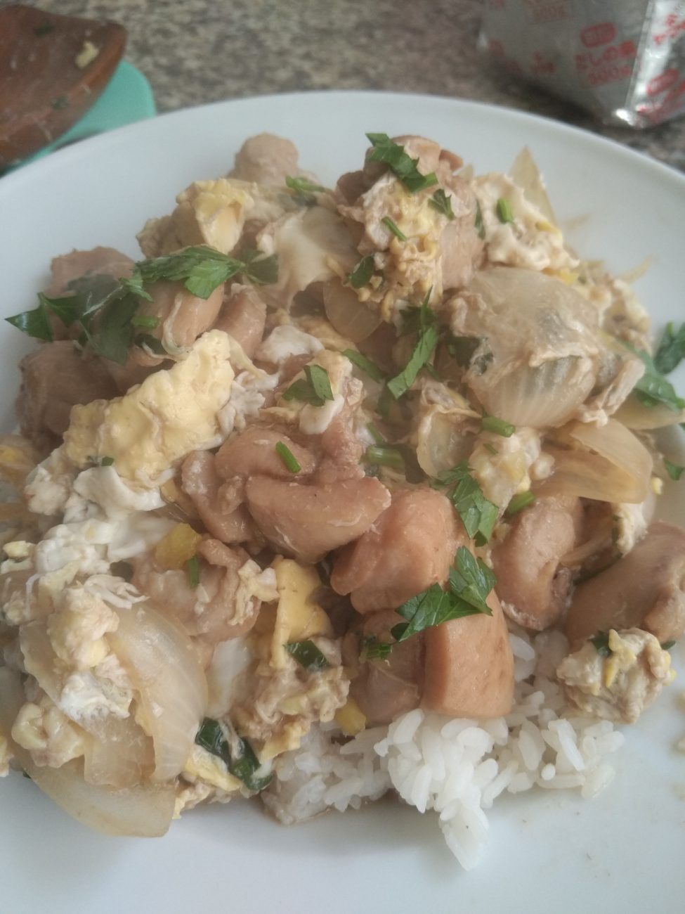 Oyakodon (Chicken and Egg Bowl)
