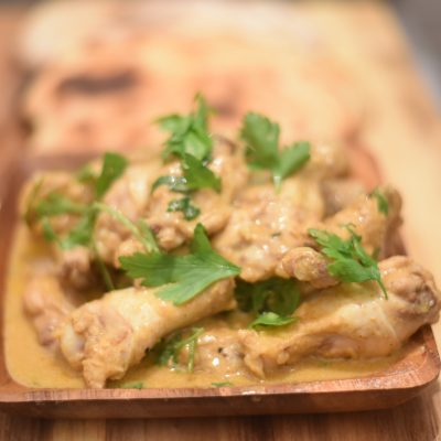 Coconut curry chicken wings