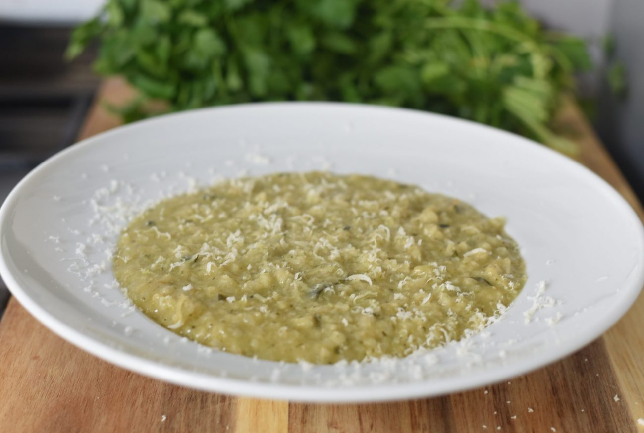 Artichoke and Zucchini Spring Risotto