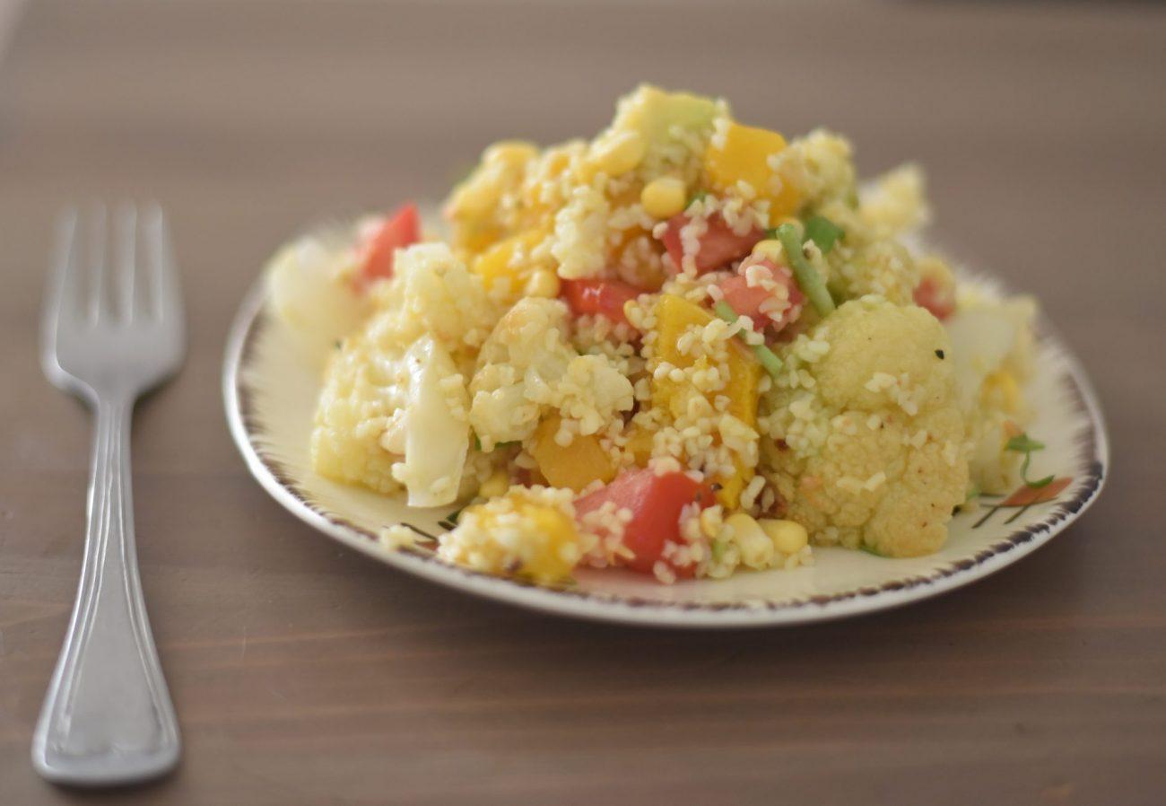 Oven Roasted Vegetables Burghul Salad
