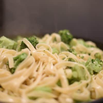 Creamy Broccoli Fettuccine recipe