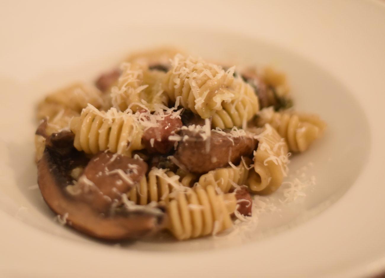 Radiatori Duck and Mushroom Pasta